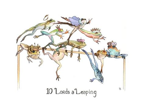 ten lords a leaping gifts ten a leaping greeting card earth s treasures