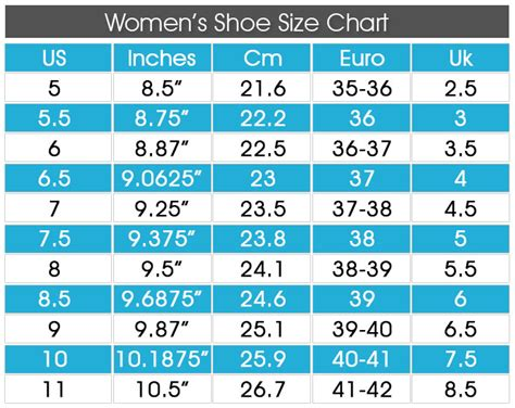size chart shoes shoe size chart shoeocean