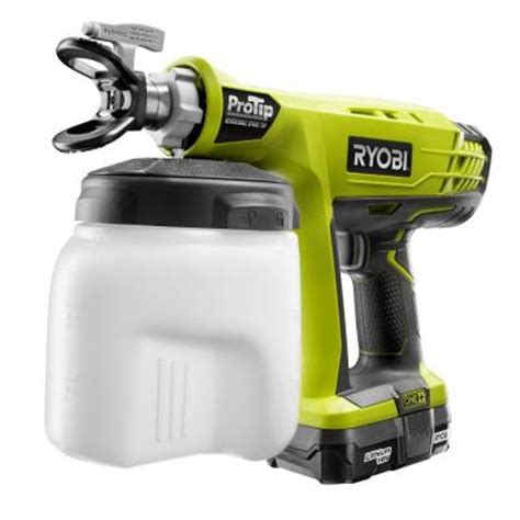home depot paint sprayer rental cost canada ryobi 18 volt one protip speed sprayer p651k the home depot