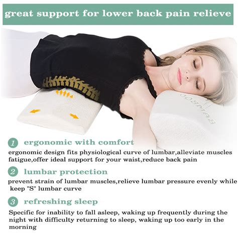 back relief pillow soft memory foam sleeping pillow for lower back