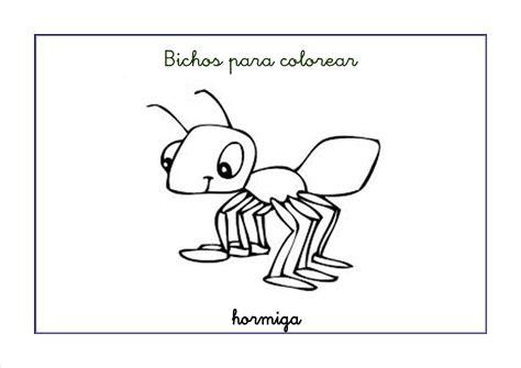 dibujos infantiles para colorear de hormigas fichas de infantil bichos para colorear