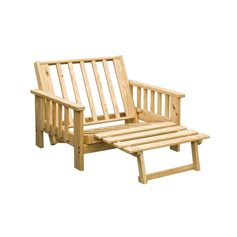 wood futon chair pine grand teton twin lounger futon frame 113146 living