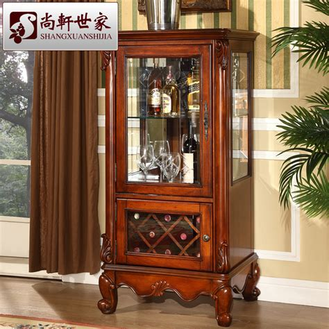 Office Bar Cabinet American Style Solid Wood Wine Cabinet Corner Cabinet Partition Household Glass Bar Counter
