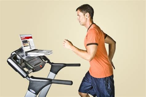 laptop desk for treadmill turn your treadmill into a workspace with surfshelf