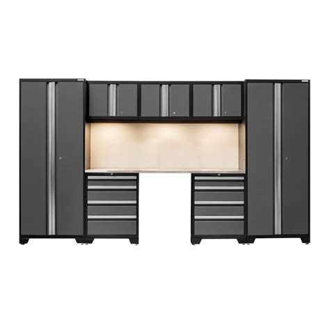 newage bold series 12 pc cabinetry set in grey