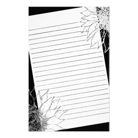 printable black and white stationery 5 best images of printable lined stationery black and