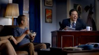 jimmy fallon room jimmy fallon invades your living room in time warner cable s ad adweek