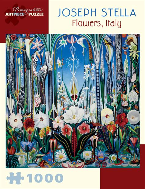 stella finds home books joseph stella flowers italy 1 000 jigsaw puzzle