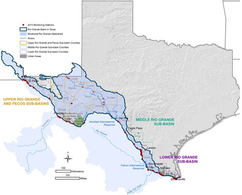 grande texas map river map grande