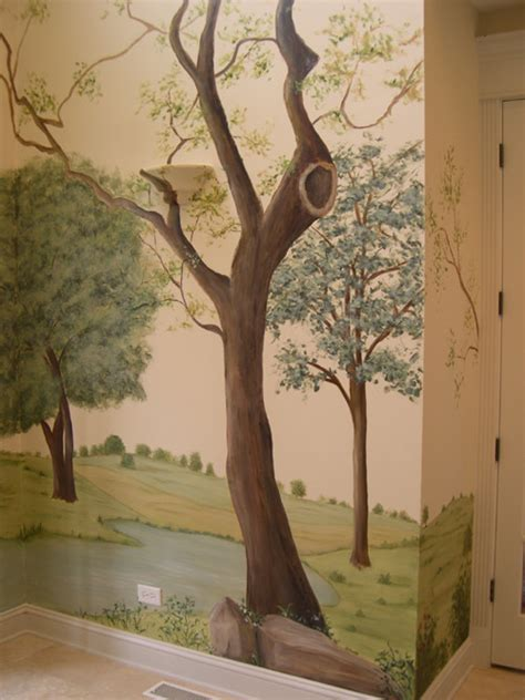Wall Mural Trees painted tree mural muralist debbie cerone wall murals