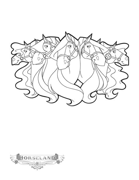 horseland coloring book pages horseland coloring pages coloringpages1001