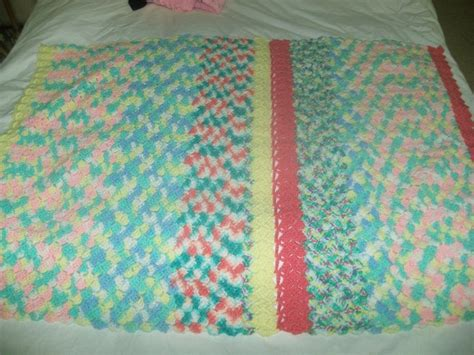How To Make Handmade Blankets - beautiful handmade baby blanket afghan knit crochet 2