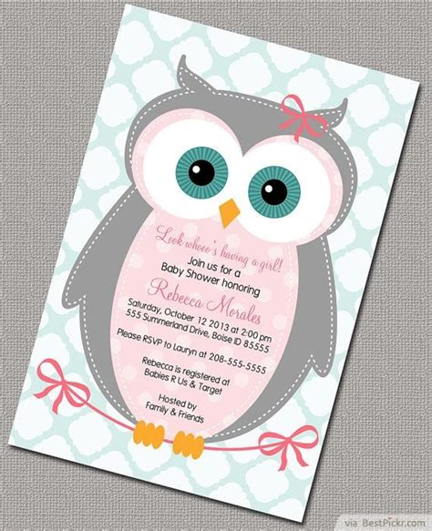 6 smart owl baby shower invitations printables ideas for bestpickr