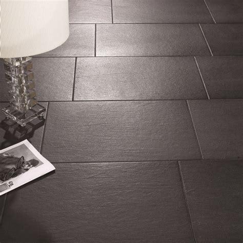 slate effect floor tiles black direct tile warehouse