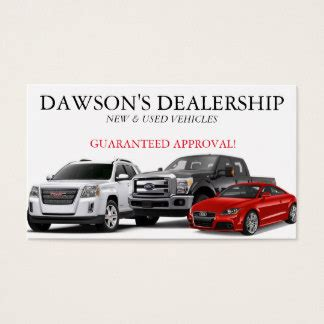 car dealer business cards templates car dealer business cards templates zazzle