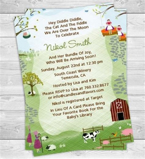 Baby Shower Invite Rhymes by Nursery Rhyme Baby Shower Invitations