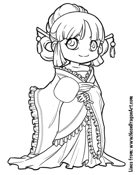 coloring pages chibi tang dynasty coloring page art tips pinterest