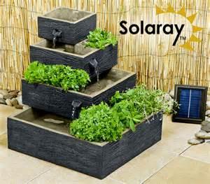Self Water Planter bepflanzbarer solarbrunnen quot burntwood quot 109 99