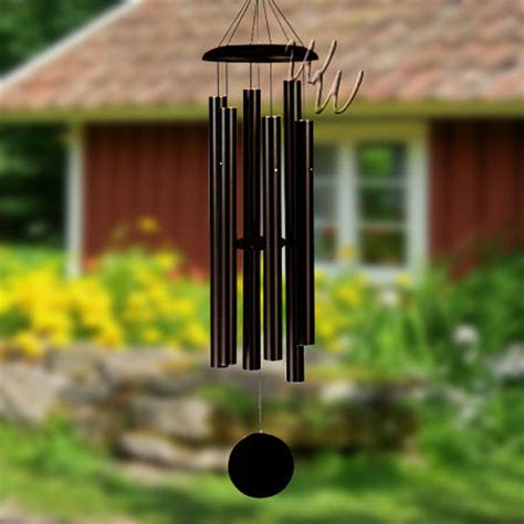When Chimes corinthian bells 53 inch black wind chime scale of g