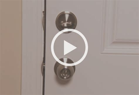 How To Install A Lock On A Door installing a door lock at the home depot
