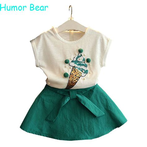 Aliexpress com buy humor bear summer fashion lovely ice cream baby girls clothes kids clothes