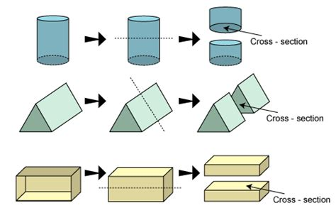 cross section of a 3d shape solid shapes cross selection and shadow play of solid shapes