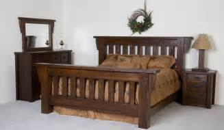 Rustic log bed frames bed create