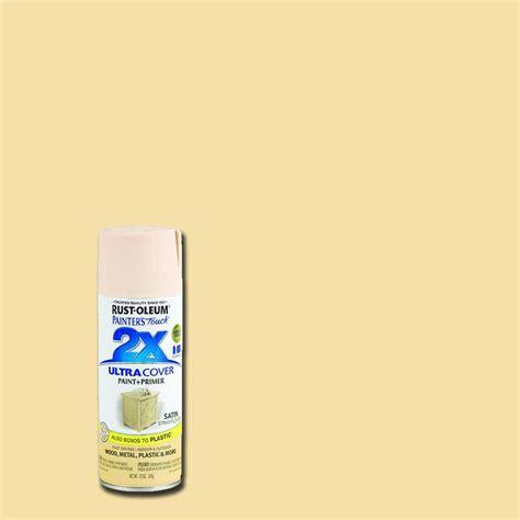 rust oleum painter s touch 2x 12 oz satin strawflower general purpose spray paint 249065 the