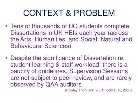 dissertation supervisor problems issues on dissertation supervision