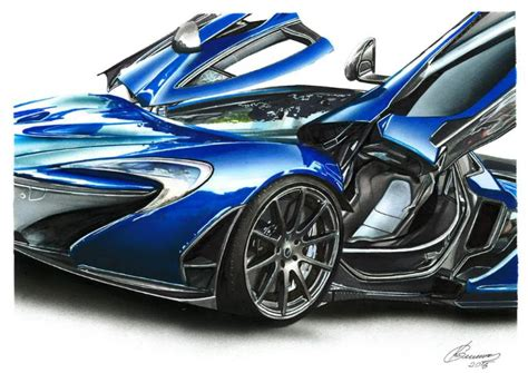 mclaren drawing saatchi mclaren p1 illustration drawing by car