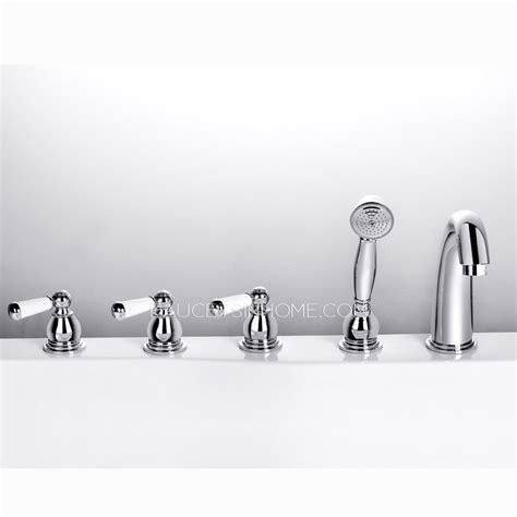 Antique Bathtub Faucet by Antique Silver Five Set Sidespray Bathtub Shower Faucet