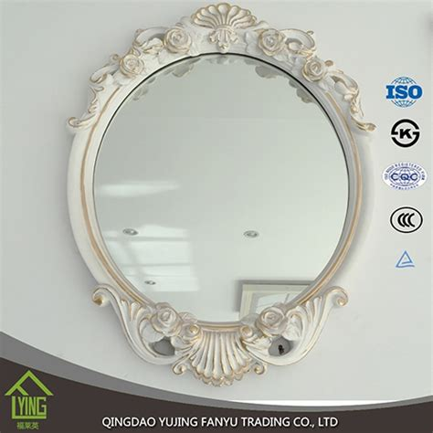 wooden bathroom mirror with shelf wholesale wooden framed wall hanging bathroom mirror with