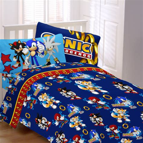 sonic the hedgehog bedroom sonic speed bedding sheet set walmart com