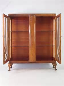 art deco china cabinet art deco oak china cabinet or bookcase antiques atlas