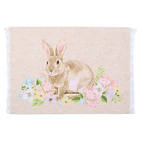 bed bath and beyond easter homewear linens spring garden bunny placemat bed bath