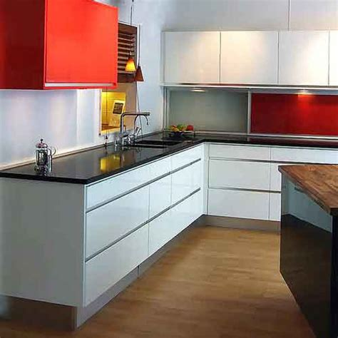 scandinavian kitchens with large patterns on walls from