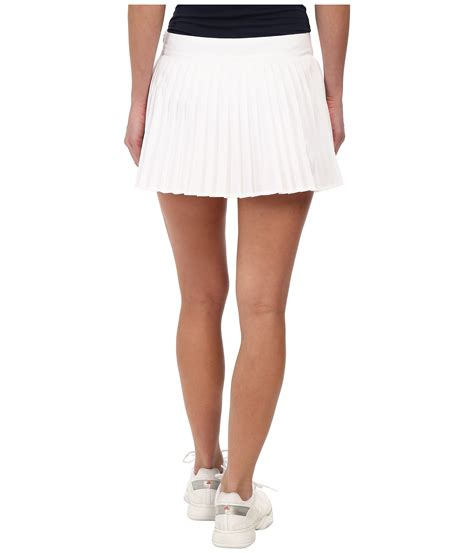 lacoste technical pleated tennis skirt white zappos
