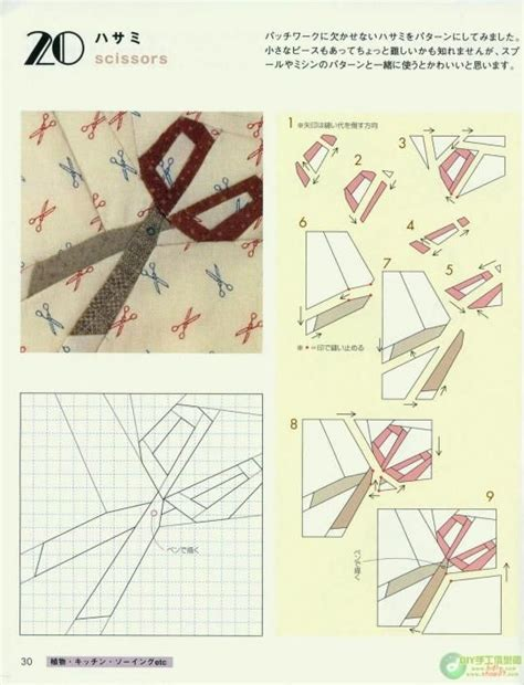 Patchwork Foundation Piecing - creazioni con stoffa disegni per patchwork foundation