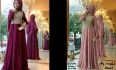 Dress Brokat Valencia Size Lengkap maxi dress pesta pashmina baju muslim brokat gamis