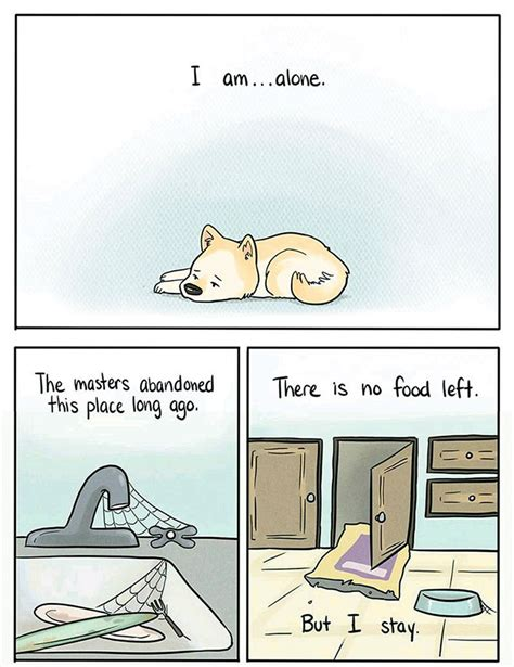 this comic reveals how a dog feels home alone bored panda