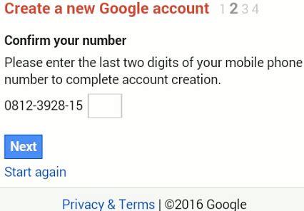 cara membuat akun gmail lewat sms daftar cara buat akun google gmail baru di hp lewat sms