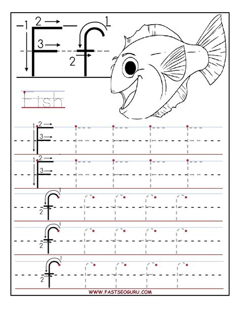 printable tracing letters for preschoolers printable letter f tracing worksheets for preschool