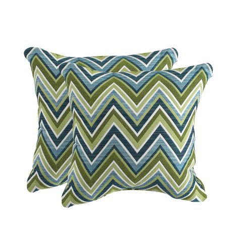 Outdoor Pillows Lowes by Shop Allen Roth Set Of 2 Sunbrella Fischer Oasis Uv