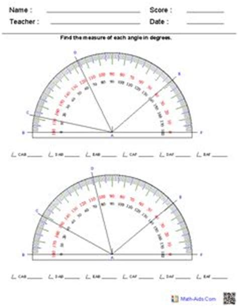 printable protractor multiple identify triangles worksheets places to visit