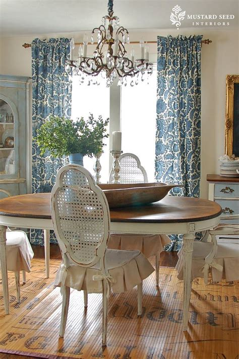 country dining room curtains french country cottage inspiration feeling blue