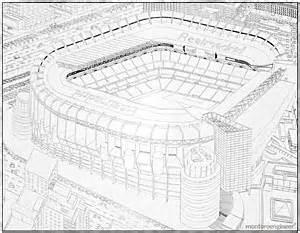 Civil Engineer Home Design Santiago Bernabeu Stadium Drawn By Hand Montoroengineer