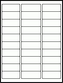 30 Label Template 30 Label Template Laser Label Layouts Artcraft Computer Forms Corp Within Computer Labels Template