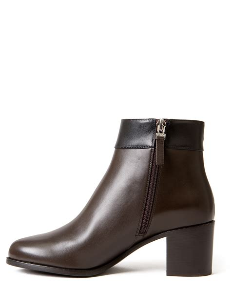 fendi boots for fendi bicolor ankle boots in brown lyst