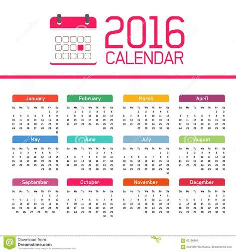 new year months calendar 2016 stock illustration illustration of april 63196807