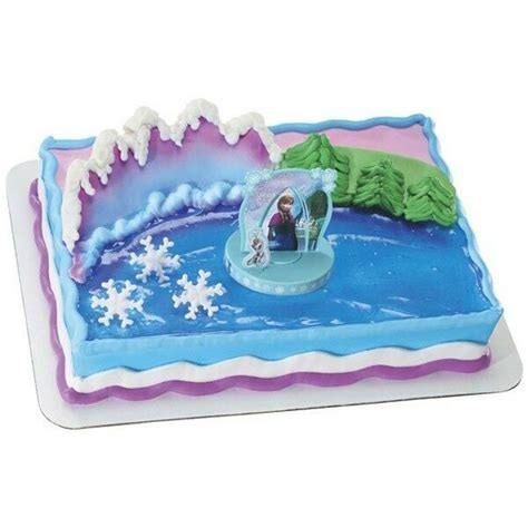 disney frozen cupcake cake topper decorating supplies kit anna  elsa olaf ebay